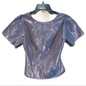 Foxiedox Metallic Cut Out Crop Top NEW